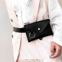 Fanny Pack Women Belt Bag Leather Waist Bag Fashion Women Pure Color Shoulder