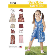 Simplicity Sewing Pattern 1453 SZ 3-8 Child's Girls Dress Top Pants Shorts Hat