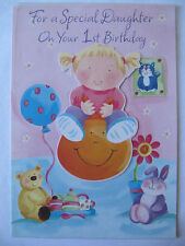 HALLMARK BOUNCING SPECIAL DAUGHTER ON YOUR 1ST BIRTHDAY GREETING CARD