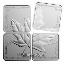 Canada 2017 Silver Maple Leaf Quartet 4 Coin Square SML Puzzle Set $3 Proof
