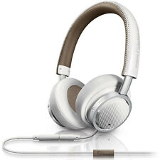 PHILIPS FIDELIO M1 MKII PREMIUM ON-EAR HEADPHONES WHITE LEATHER REMOTE MIC