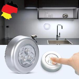 LED Touch Lampe Nachtlicht Batteriebetrieben Küchenlampen Schrankleuchten