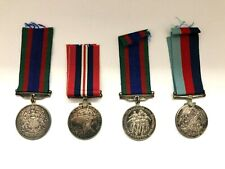 4 Canadian WWII 1939-1945 SILVER MEDALS DEFENCE VOLUNTARY AND WAR