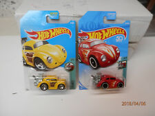 hot wheels bugs vw yellow and red tooned