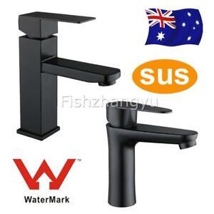 AU Watermark Wels Bathroom Basin Mixer Tap Set Round/Square Vanity Faucet SUS