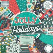 """Jolly Holidays Paper Pad - 48 Sheets - 6 x 6"""" premium Christmas paper - NEW"""