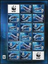 Sao Tome 2017 Wwf World Wildlife Fund Sperm Whales Sheet Of Sixteen Mint Nh