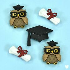 DRESS IT UP Buttons Graduation 9354 - Scroll Certificate Owl Hat