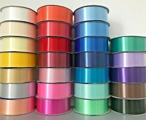 """Poly Ribbon 2"""" 50mm wide Crafts Wedding Floristry Gift Decoration Waterproof"""
