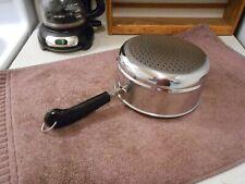REVERE WARE Stainless Steel 2 & 3 Qt Steamer Insert Pan CLEAN & SHINY!