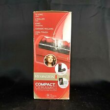 Remington H1015 Compact Ceramic Hot Rollers Curlers Worldwide Voltage 2 Sizes