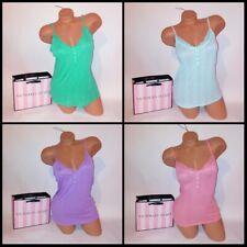 Victoria Secret Camisole Tank Top Ribbed Sleeveless Sleepwear Lace Trim Sleep