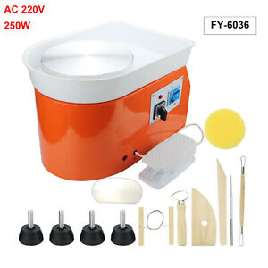 220V Electric Pottery Wheel Machine For Ceramic Work Clay Art Craft Molding DIY