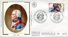 FRANCE FDC - 2700 1 REVOLUTION LA TOUR D'AUVERGNE - 1 Juin 1991 - LUXE sur soie
