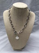 Beautiful RLL Ralph Lauren Silver tone Toggle links necklace