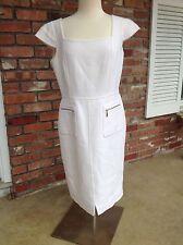 Size 16 Oscar de la Renta Cap Sleeve Cream Off White Dress NWT $2250