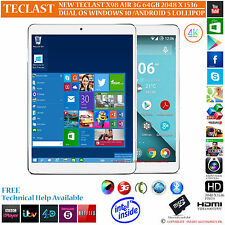 TECLAST X98 AIR 64GB INTEL 2.16GHz DUAL OS WINDOWS 10 ANDROID 5.0 TABLET PC