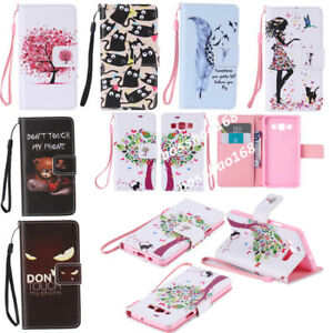 Magnetic Wallet Cartoon PU leather Gel Soft Flip Stand phone cover case Strap #1