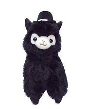 Kawaii Black Top Hat Alpaca Plush Cute Gentleman Llama Plushie 27cm Groom Gift