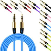Stereo Jack Plug Auxiliary Cable Audio Cable Male To Male Flat Aux 3.5mm Cable