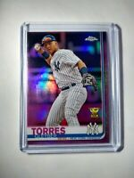 2019 Gleyber Torres Pink RC Topps Chrome Refractor #86 Yankees Rookie Card