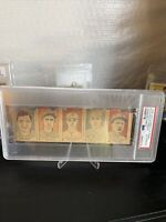 1926 W512 Strip Card Panel w/ Babe Ruth Hornsby Vance Frisch PSA AUTH Very Rare!