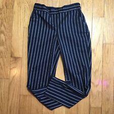 Cynthia Rowley Navy Blue Stripe Pull On Trouser Size 2