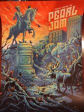 Pearl Jam Boston Fenway Park By Dan Mumford Orange Sky Variant AP #/100
