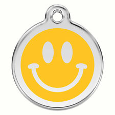 Smiley Face Emoji Engraved Dog / Cat ID identity Tags / discs by Red Dingo (1SM)