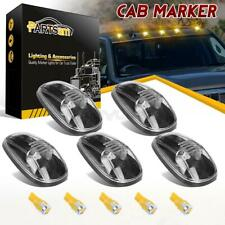 (5) For Dodge Ram 99-02 264145CL Clear Cab Top Clearance Light+6-5730 Amber LEDs