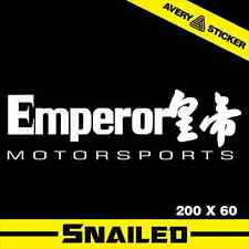 EMPEROR MOTORSPORT STICKER DECAL CAR DRIFT TURBO VINYL FAST EURO GTR SUBARU