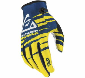 Answer Racing Men's A20 AR1 ProGlo Gloves Yellow/Midnight/White