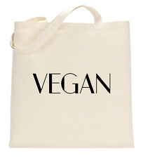 Vegan Cute Vegetarian Support Love Animals Tote Shopping Bag Large Lightweight
