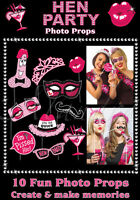 10 pack of Hen Night Party Photo Props Photo Booth Bachelorette Party Props