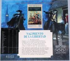 NICARAGUA 1980 Block 130 Alphabitization Olympics Moscow US Independence War MNH