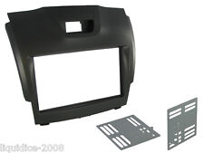 CT23IZ02 ISUZU D-MAX 2012 - 2013 BLACK DOUBLE DIN FASCIA FACIA ADAPTOR PANEL
