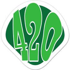 "420 Marijuana Pot car bumper sticker decal 4"" x 4"""