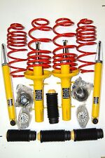VW GOLF 4 IV KIT COMPLET SUSPENSION AMORTISSEUR RESSORT 4 COUPELLES KIT PROTECT