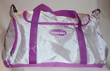 Tupperware XL Logo Duffel Bag Athletic Sport Gym Travel White & Purple NEW