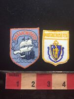 Massachusetts Patch Lot - Pair Of Patches 75WT