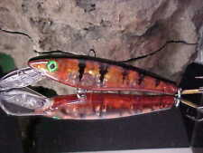 """Musky Mania 6"""" LI'L ERNIE, Deadly Naked Red Perch, for Big Gamefish Musky/Pike"""