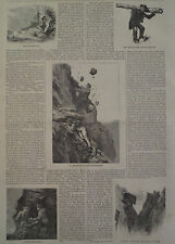 NIGHT UPON THE ALPS MOUNTAIN CLIMBER EDWARD WHYMPER HARPER'S WEEKLY 1871