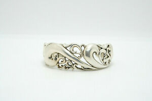 Kabana Sterling Silver Open Scroll Design Cuff Bracelet