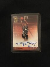 2000 Topps Gallery Tim Duncan Auto Certified Issue TA-TD Rare On Card