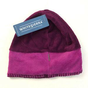 White Sierra Youth Kids Cozy Beanie Fleece Purple Two Tone S/M Unisex