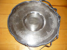 ANTIQUE SILVERPLATE TRAY WITH HANDLE/ F.B. ROGERS SILVER CO.