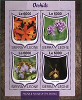 SIERRA LEONE  2016 ORCHIDS  SHEET  MINT NH