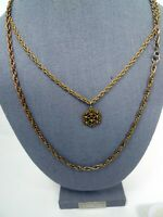 """Vintage Lot 2 24"""" Chain Pendant Twisted chain"""