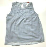 NEW Forbidden Los Angeles Women's Embroidered Tank Top Sky Blue, Size 2XL XXL