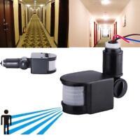 Black Security PIR Infrared Motion Sensor Detector Outdoor Wall Light Lamp new